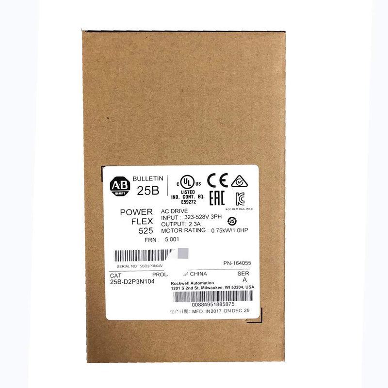Allen Bradley Powerflex 525 1HP Catalog 25B-D2P3N104 Factory sealed