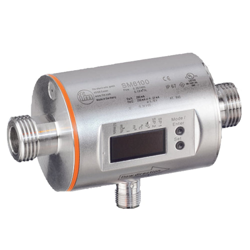 IFM Efector SM6000 Magnetic-Inductive Flow Meter, 0.1 to 25 l/min, -20 to 80 degrees C Measuring Range