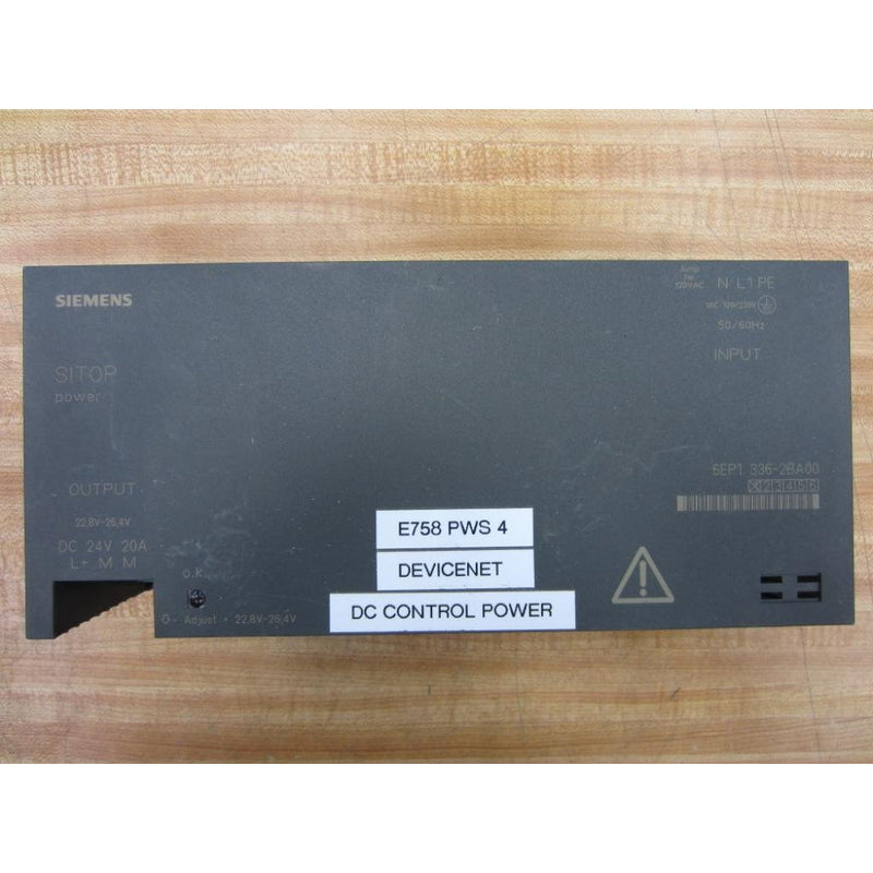 Siemens 6EP1-336-2BA00 Power Supply 20 Amp 24VDC