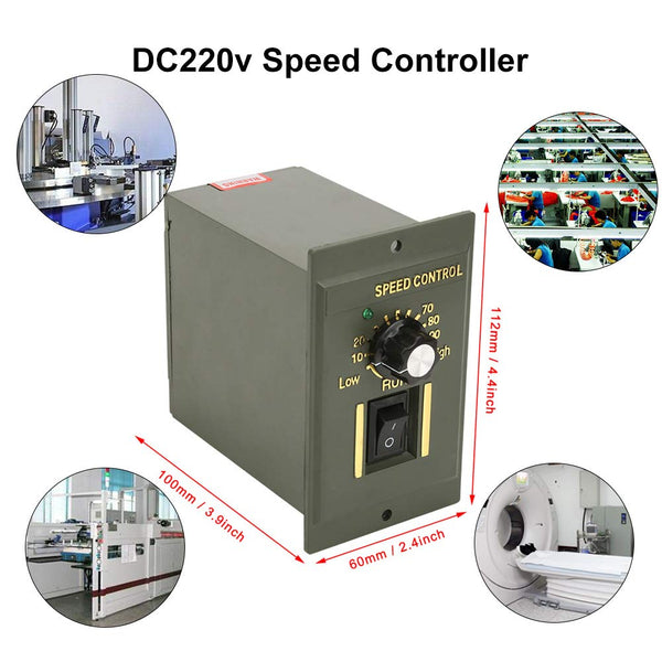 Acogedor DC 220v Speed Controller,Permanent Magnet Motor Speed Controller,Stable Operation,High Precision, Wide Speed Controlling Range,for Packaging Printing, Instrumentation