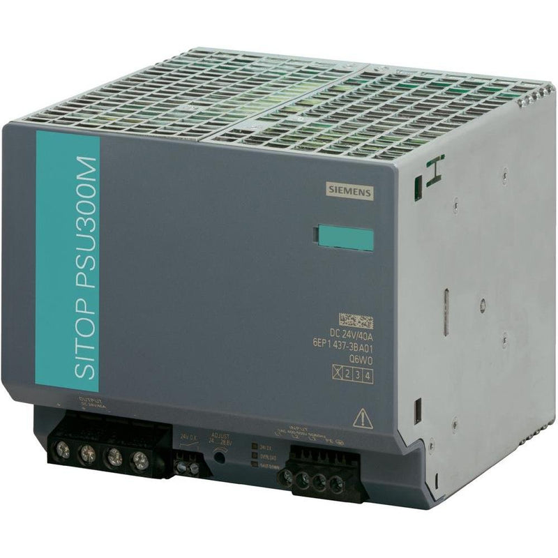 Siemens 6EP1437-3BA10 SITOP PSU300M DIN Rail Power Supply 24Vdc 40A 960W, 3-Phase