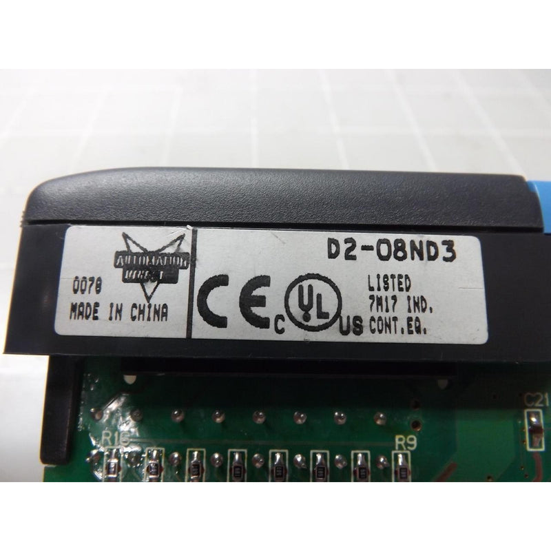 PLC DIRECT D2-08ND3 DL205 Discrete Input Module, 8-Point, 12-24 VDC, Sinking/SOURCING, 1 Common(S), 8 Point(S) PER Common. Removable Terminal Block Included.
