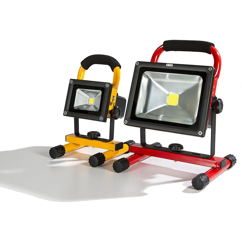 FLOOD-IT TK10YCW Portable PRO 10W 4 Hour Rechargeable Cordless Light, Yellow