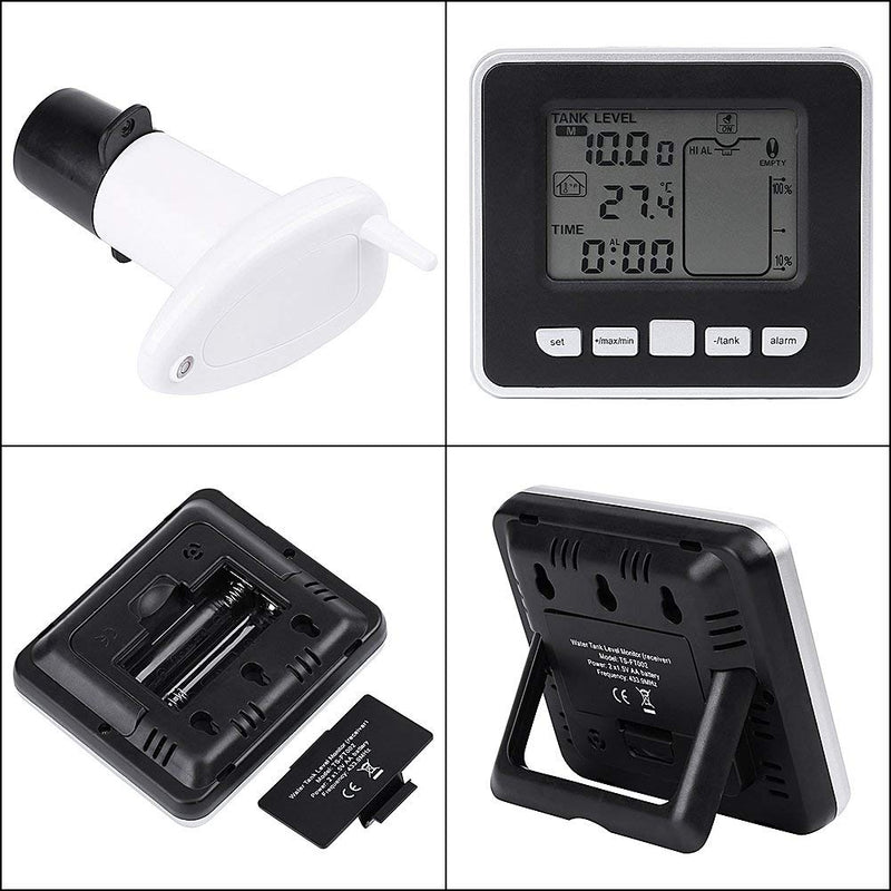 Ultrasonic Level Monitor,Acogedor Wireless Liquid Level Sensor,Tank Liquid Depth Level Meter Sensor with Temperature Display