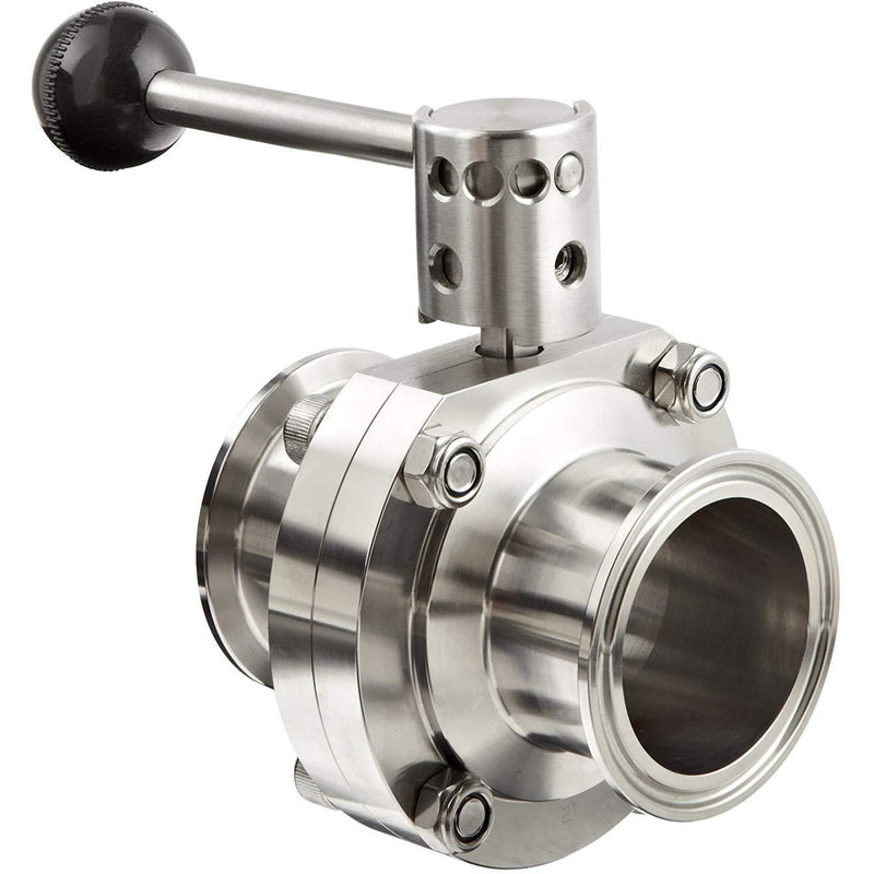 Dixon Stainless Steel 316L Butterfly Valve with Pull Handle and Silicone Seal