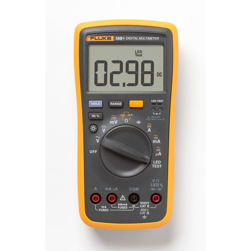 Fluke 18B+ Plus AC DC Voltage Current Digital Multimeter DMM