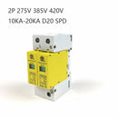 D20-2P 10KA~20KA ~275V 385V 420V AC SPD House Surge Protector Protective Low-voltage Arrester Device 1P+N Lightning protection