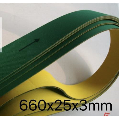 660x25x3mm  Nylon Chip Base Band Textile Flat Belt Conveyor Transmission Timing Belt