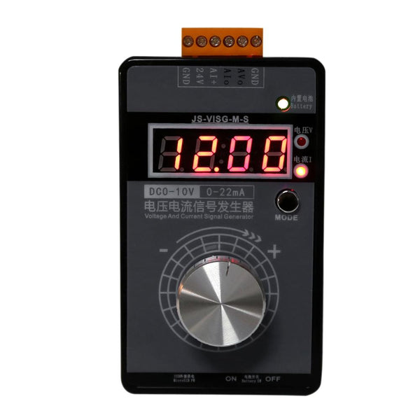 0-10V 0-22mA Signal Generator Adjustable High Precision Current Voltage Analog Simulator With LED Display