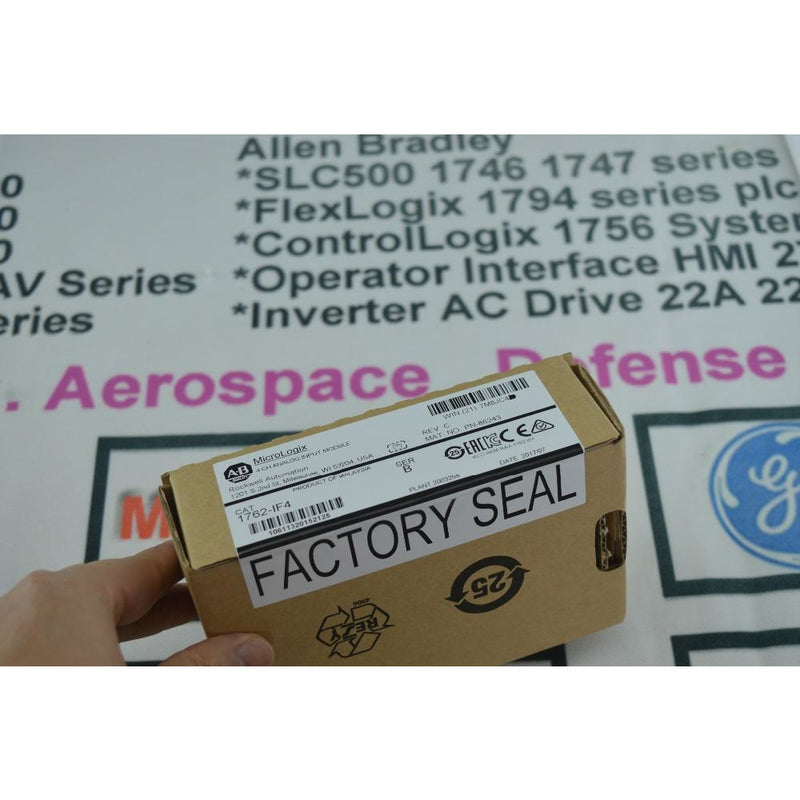 ALLEN BRADLEY MICROLOGIX 1762-IF4 FACTORY SEALED 2015 ANALOG INPUT 1762IF4