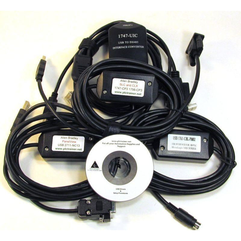 ALLEN BRADLEY COMPLETE PROGRAMMING SET 1747-UIC 2711-NC13 1747-CP3 1761-CBL-PM02,HAVE IN STOCK