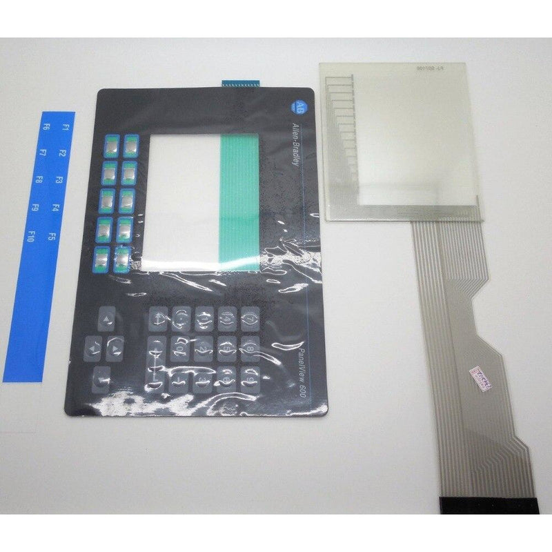 ALLEN BRADLEY 2711-B6 PANELVIEW 600 KEYPAD AND TOUCH GLASS REPLACEMENT 2711-B6 OVERLAY, HAVE IN STOCK