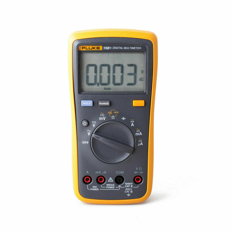 Fluke Digital Multimeter 15B +AC / DC voltage of 4000 ounts, high precision automatic portable multifunction multimeter