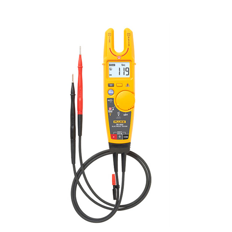 Fluke T6-600 Non-contact Voltage Clamp Meter Fork Voltmeter Ammeter With Soft Shell High Precision Current Clamp Meter