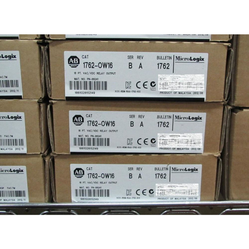 ALLEN BRADLEY MICROLOGIX 1762-OW16 FACTORY SEALED 2015 RELAY OUTPUT 1762-0W16