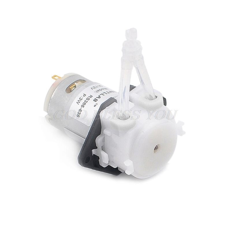 12V DC Peristaltic Pump Micro Self Priming Mute DIY Liquid Water Lab Dosing Aquarium Lab Analytical Industry Household