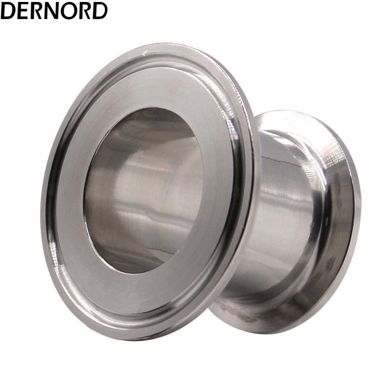 DERNORD 1.5'' * 2'' Sanitary Fitting End Cap Reducer Tri Clamp Clover Stainless Steel 304 Triclover Flat Reducer