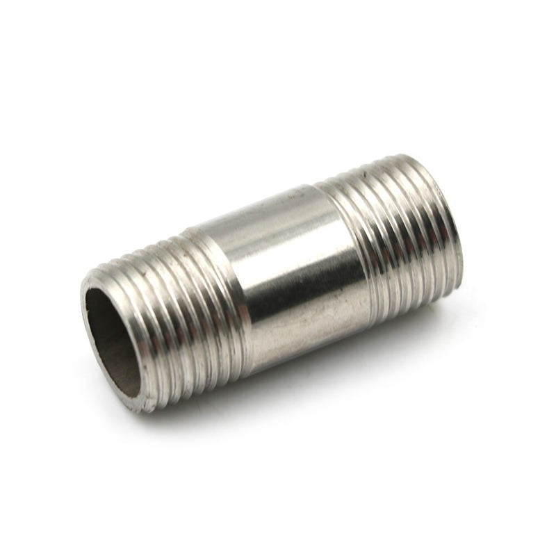 1Pcs Stainless Steel SS304 Male x Male Threaded Pipe Fitting