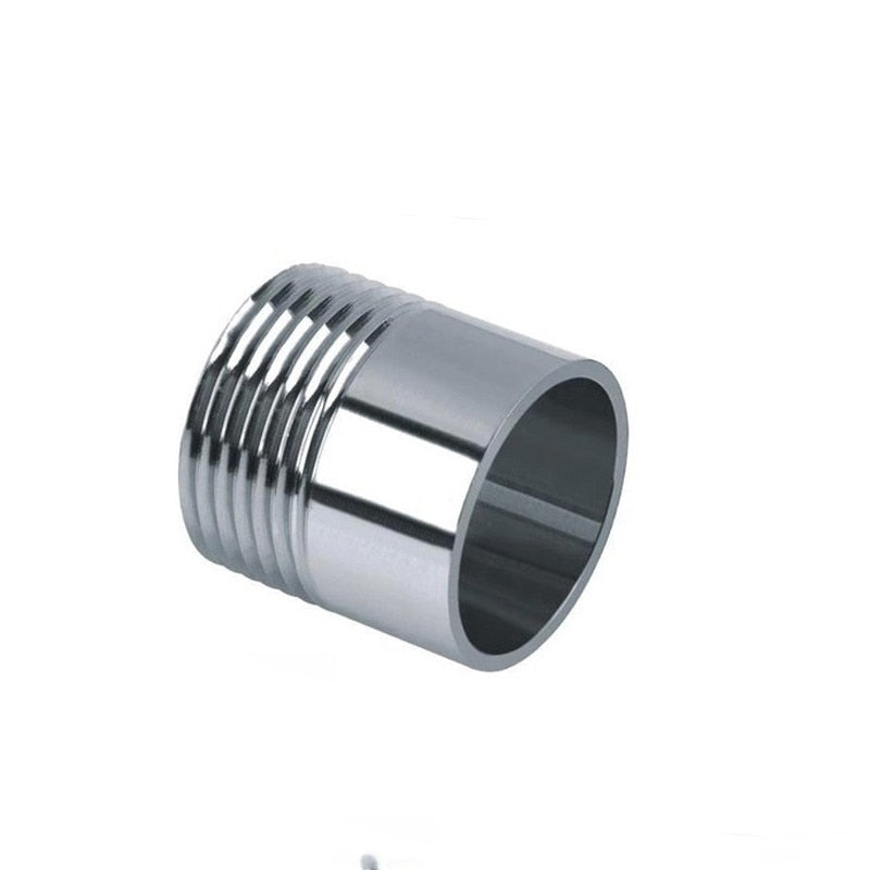 "1/4"" 3/8"" 1/2"" 3/4"" 1"" to 2"" BSPT Male x Butt Weld Nipple 304 Stainless Steel Pipe Fitting Water Gas Oil"
