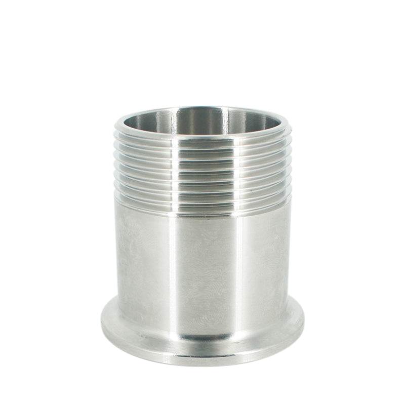 "2"" DN50 Stainless Steel SS304 Sanitary Male Threaded Ferrule OD 77mm Pipe Fitting fit 2.5"" Tri Clamp-in Pipe Fittings f"