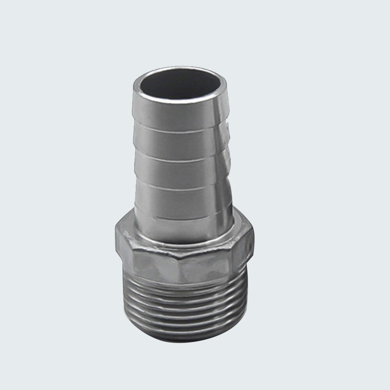 "2pcs Legines 304 Stainless Steel Garden Hose Barb Fitting, Adapter Connector, Hose ID 6mm Barb x 1/4"" BSP Male Pipe"