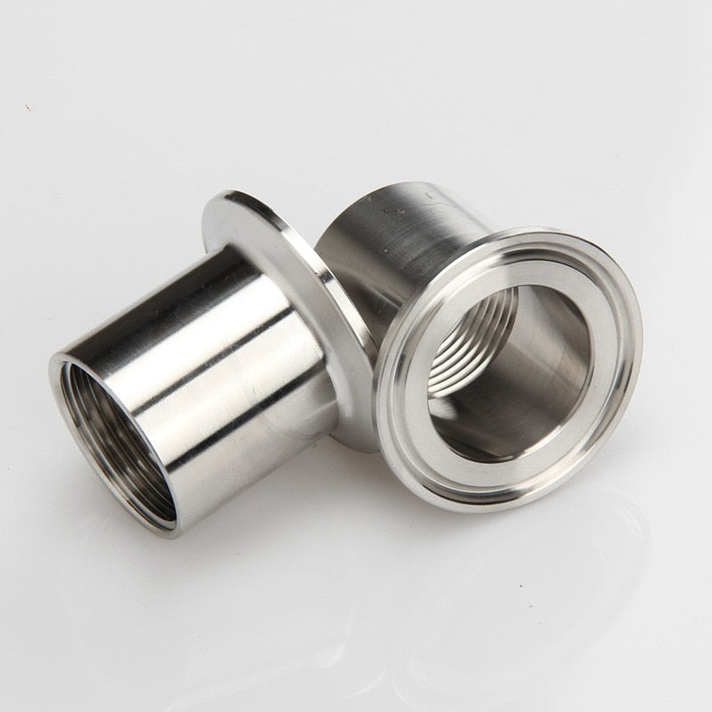 "2"" DN50 Sanitary Female Threaded Ferrule Pipe Fittings Tri Clamp Type Stainless Steel SS304"