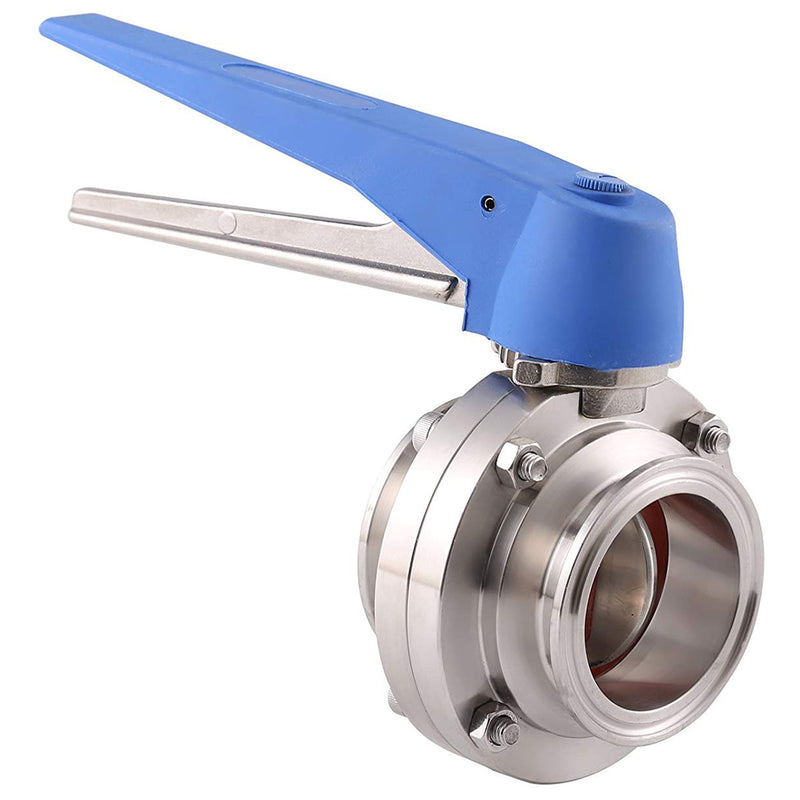 New Tri Clamp Butterfly Valve Squeeze Trigger for Homebrew Dairy Product 1-1/2 inch 38mm SS304 Stainless Steel Sanitary 1.5 inch