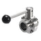 "1-1/2"" 38mm 304 Stainless Steel Sanitary 1.5"" Tri Clamp Butterfly Flow control Valve Home Brew Beer Dairy Product"