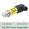 0 25 bar sanitary flush pressure sensor, 3 wire signal 0.5 4.5V, supply 5V dc, 1 2 NPT flush connection, ss 316L wetted parts