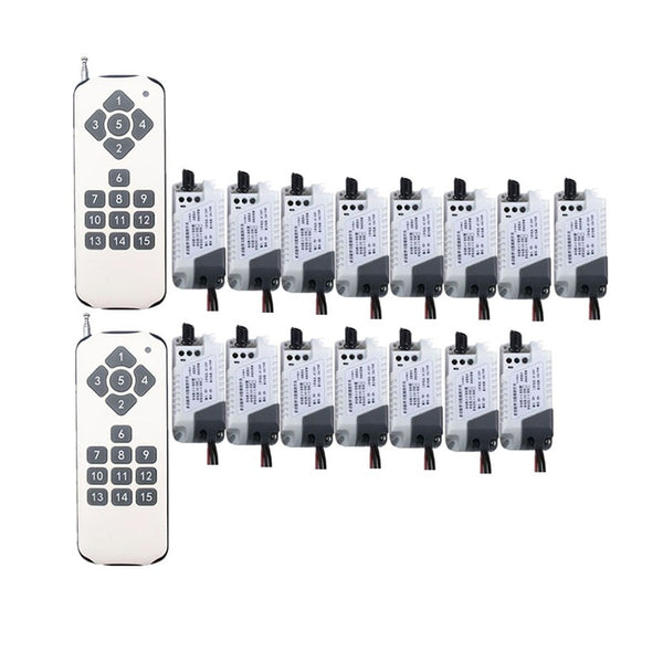 1000m Long Range AC220V Wireless Remote Control LED Light Switch Relay Output Radio RF Transmitter & Receiver