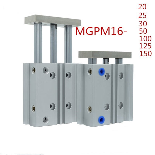 SMC Type MGPM16 Thin cylinder with rod MGPM 16-20/25/30/50/75/100/125/150 Three axis three bar MGPM 16 Pneumatic components