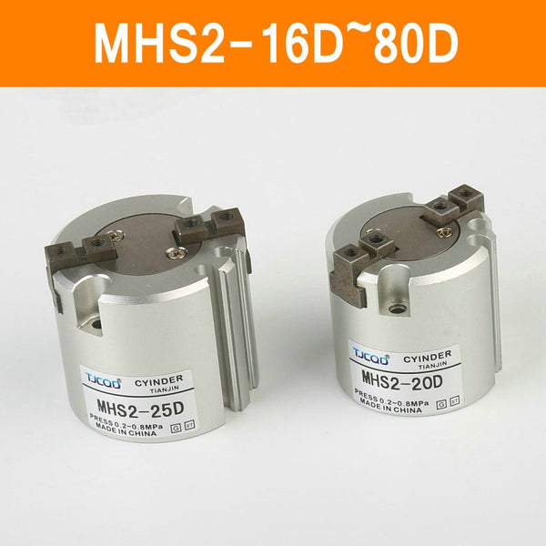 MHS2 16D 20D 25D 32D 40D 50D 63D 80D Parallel Style Air Gripper 2 Finger SMC Type Rotating Double Act Jaw Cylinder Bore 16-80mm