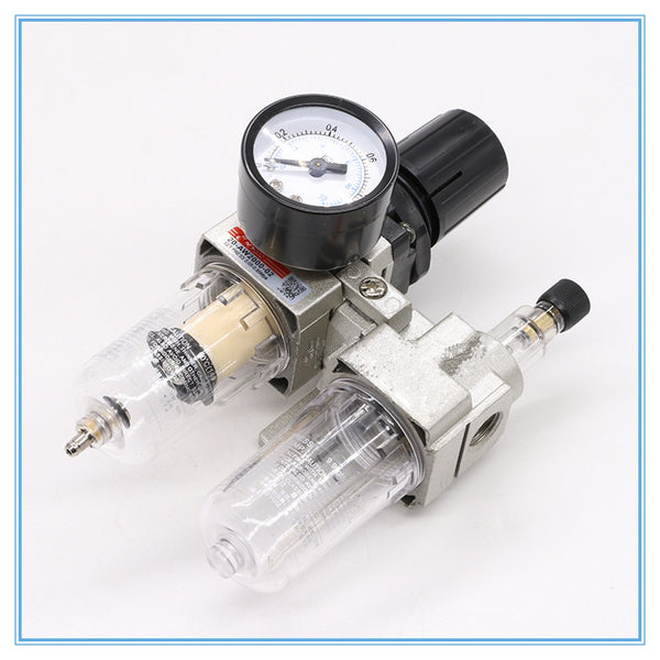 "AC2010-02 1/4""PT SMC manual drain type compressing air filter pneumatic gas source processor two joint oil-water separator"