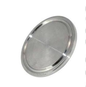 "Stainless Steel Sanitary End Cap fits 6"" Tri Clamp Ferrule Flange OD 183MM  316ss or 304ss"