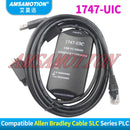 1747-UIC Compatible Allen Bradley SLC Series PLC Download Cable 1747-PIC USB TO RS232/DH-485 Interface Converter USB-1747-PIC