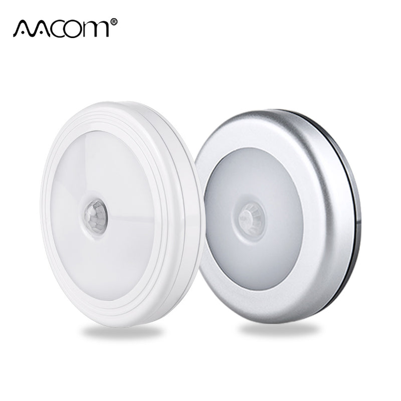 COB Motion Sensor LED Night Lights Wireless Magnetic Cabinet Light Battery Powered Closet Bedroom Touch Control Wall Lamp