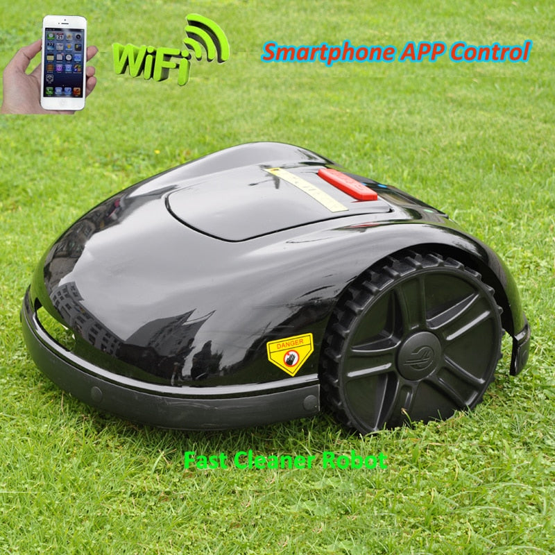 2 Years Warranty Smartphone APP Contorl Automatic Lawn Mowing Robot With 13.2AH Li-ion Battery+600m wire+600pcs pegs+24pcs Blade
