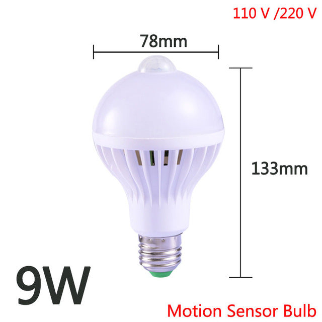 E27 Lamp with Motion Sensor Light Bulb PIR Sensor Night Lamps Light 5W 7W 9W 12W 18W Smart Home LED Ceiling Lamp Stair Hallway