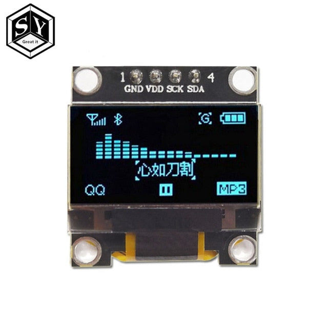 "0.96 inch IIC Serial White OLED Display Module 128X64 I2C SSD1306 12864 LCD Screen Board GND VCC SCL SDA 0.96"" for Arduino Black"