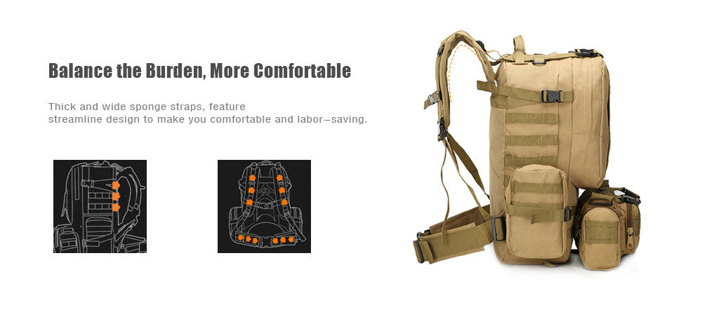 Mountain Roar - 50L Tactical Backpack Multifunction Camouflage - Image - 04