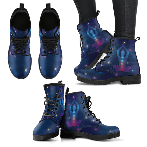 Stars Chakra Women's Leather Boots - MRP