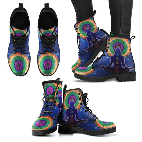 Mandala Chakra Women's Leather Boots - MRP