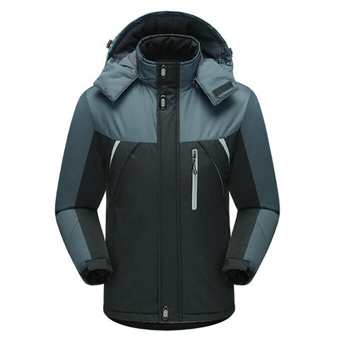 Men's Ski Waterproof Windproof Fleece Mountain Hooded Jackets Outdoor Coat | Mountain Roar Jacket - MRC