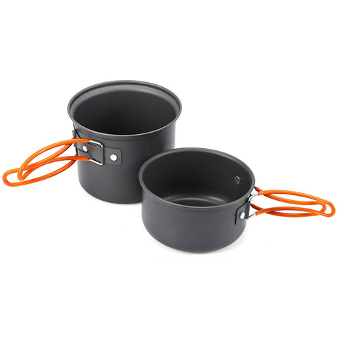 Image of 2pcs Foldable Cookware Bowl Pot Pan Set - Mountain Roar Outdoor Cookware 14 - Side
