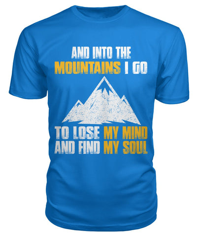 And Into The Mountain 01 | Mountain Roar Hiking T Shirt Design Print - MRC