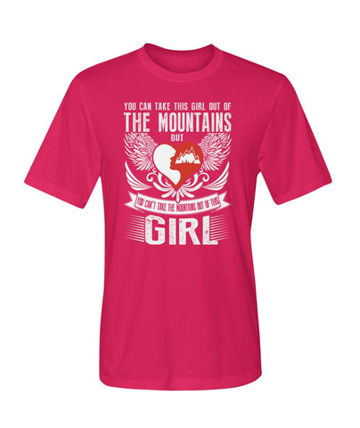 You Can't Take The Mountains Out Of This Girl 01 | Mountain Roar Sport T Shirt Designs - MRJ