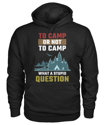 To Camp Or Not To Camp 01 | Mountain Roar Camping T-Shirt - MRA