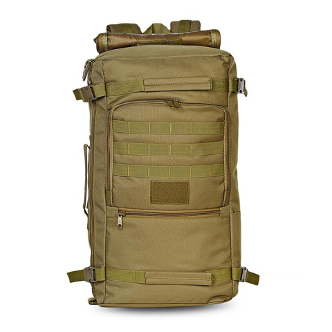 60L - Military Backpack Waterproof - Camel