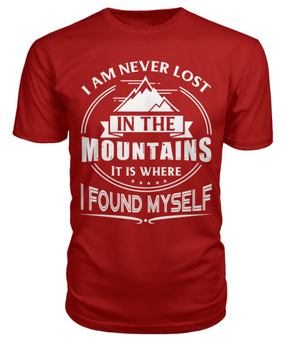 I Am Never Lost 01 | Mountain Roar Hiking T Shirt Design Print - MRC