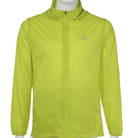 Image of Breathable Hiking Jacket Windproof Light Beach Wear Product - Green
